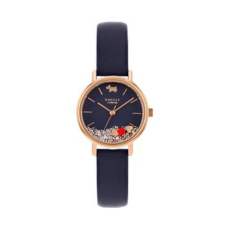 Radley Hello Love Ladies' Navy Leather Strap Watch - Product number 5086205