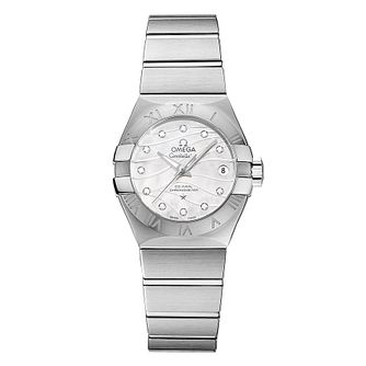 Omega Constellation Ladies White Dial Diamond Bracelet Watch - Product number 5086329