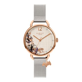 Radley 'Sketchbook Floral' Silver Tone Bracelet Watch - Product number 5086507