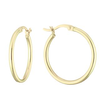 9ct Yellow Gold Creole Hoops Earrings - Product number 5086698