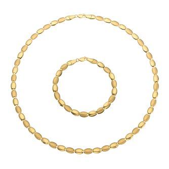 Together Silver & 9ct Bonded Gold Necklace & Bracelet Set - Product number 5086728