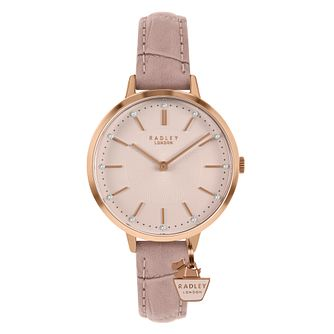 Radley Crystal Ladies' Pink Leather Strap Watch - Product number 5086795