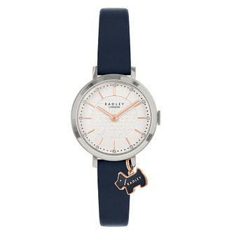 Radley Crystal Ladies' Black Leather Strap Watch - Product number 5086809