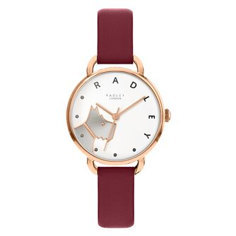Radley Ladies' Dark Red Leather Strap Watch - Product number 5086841
