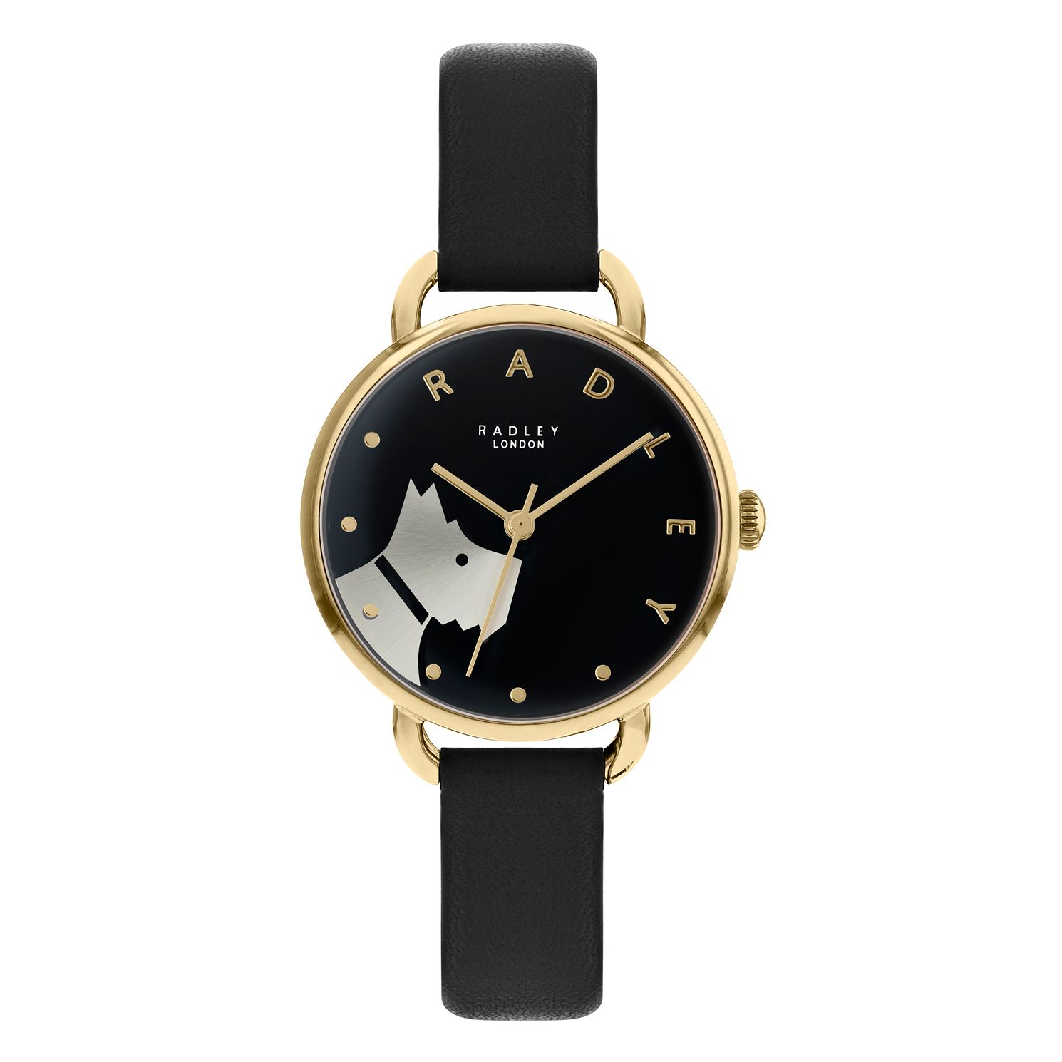 Radley Ladies' Black Leather Strap Watch - Product number 5086868
