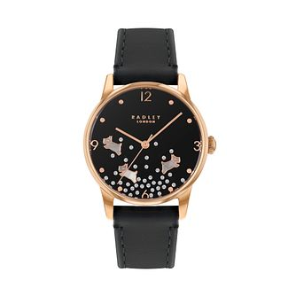 Radley Crystal Ladies' Navy Leather Strap Watch - Product number 5086884