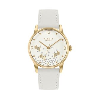 Radley Crystal Ladies' Cream Leather Strap Watch - Product number 5086892