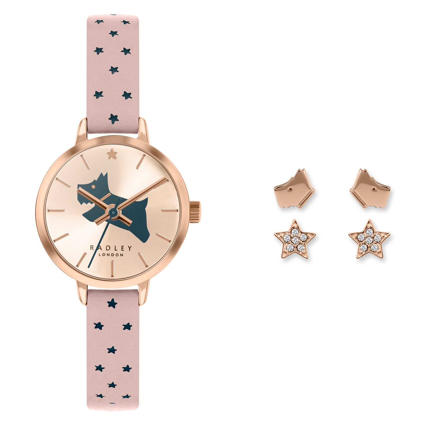 Radley London Ladies' Star Strap Watch & Earrings Gift Set - Product number 5086930