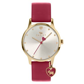 Radley London Ladies' Red Leather Strap Watch - Product number 5086949