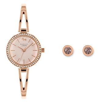 Radley London Ladies' Bangle Watch & Earrings Gift Set - Product number 5086957