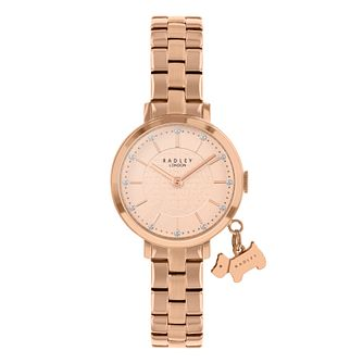 Radley Crystal Ladies' Rose Gold Tone Bracelet Watch - Product number 5086973