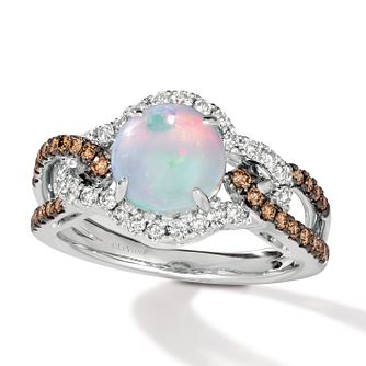 Le Vian 14ct Vanilla Gold 0.45ct Diamond & Opal Ring - Product number 5087406