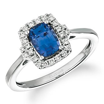 Le Vian 14ct Vanilla Gold Ceylon Sapphire & Diamond Ring - Product number 5087996