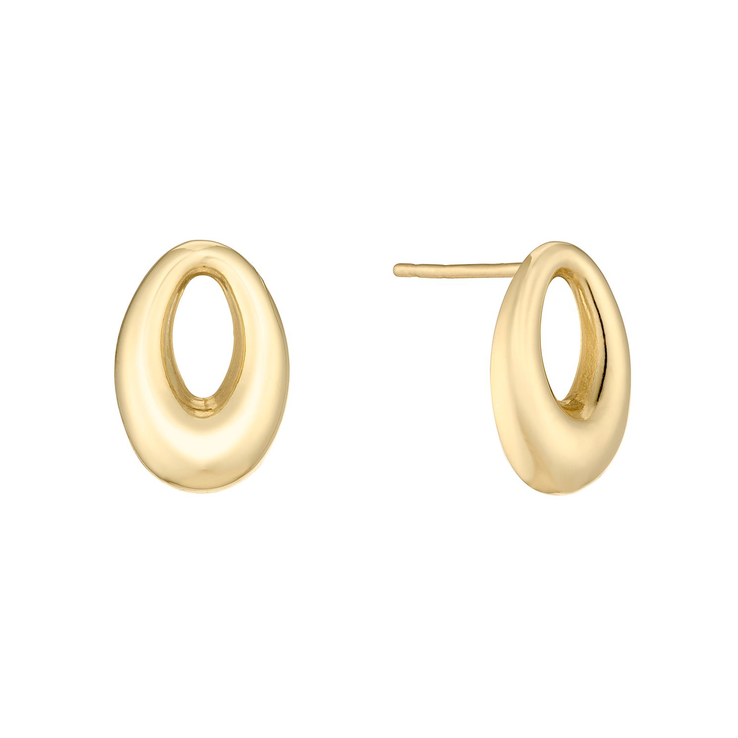 9ct Yellow Gold Open Oval Stud Earrings - Product number 5088011
