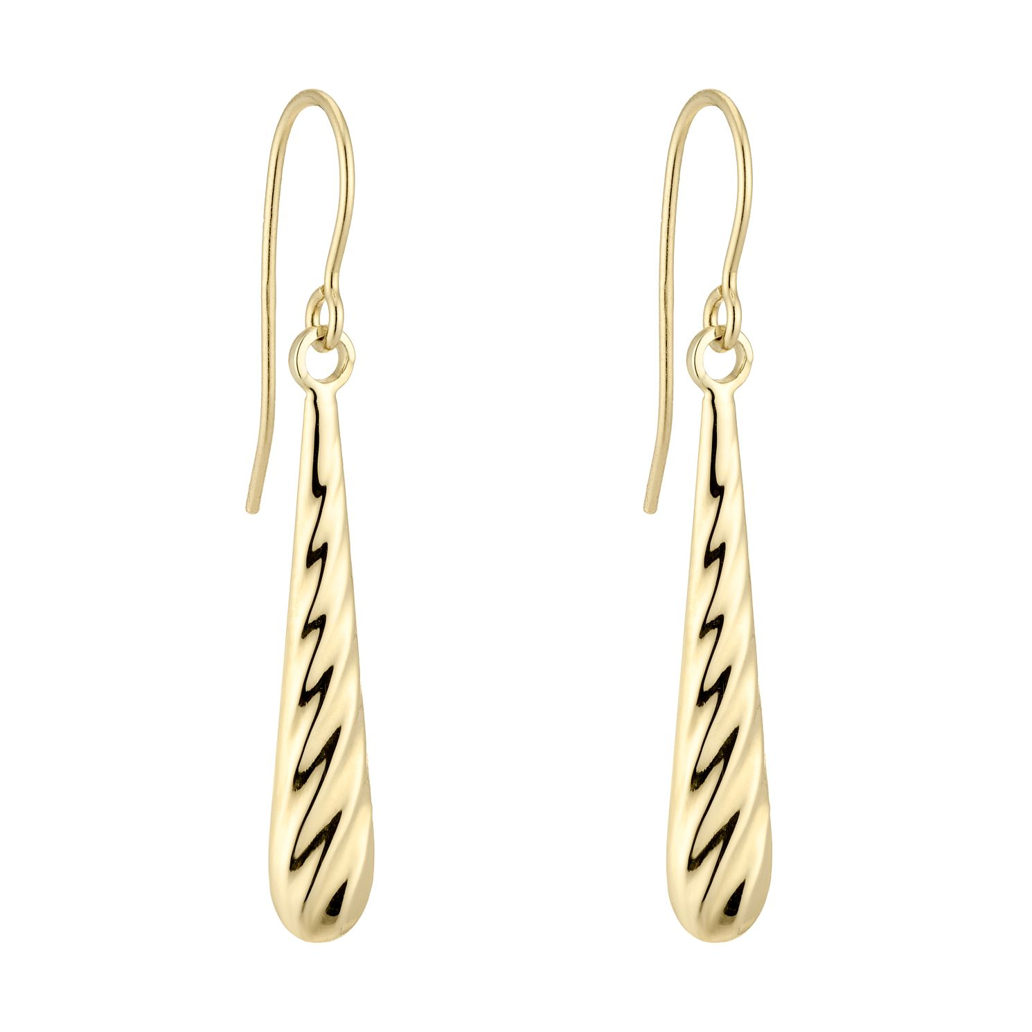9ct Yellow Gold Rope Drop Earrings - Product number 5088305