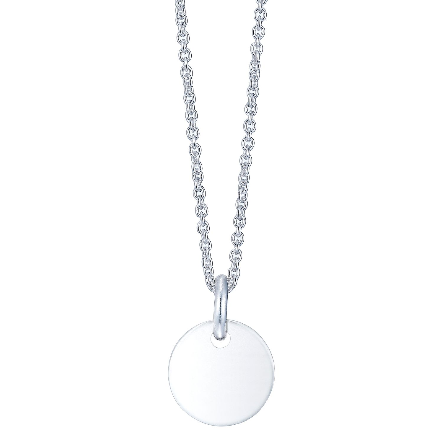 Silver Engraveable Small Disc Pendant - Product number 5088372