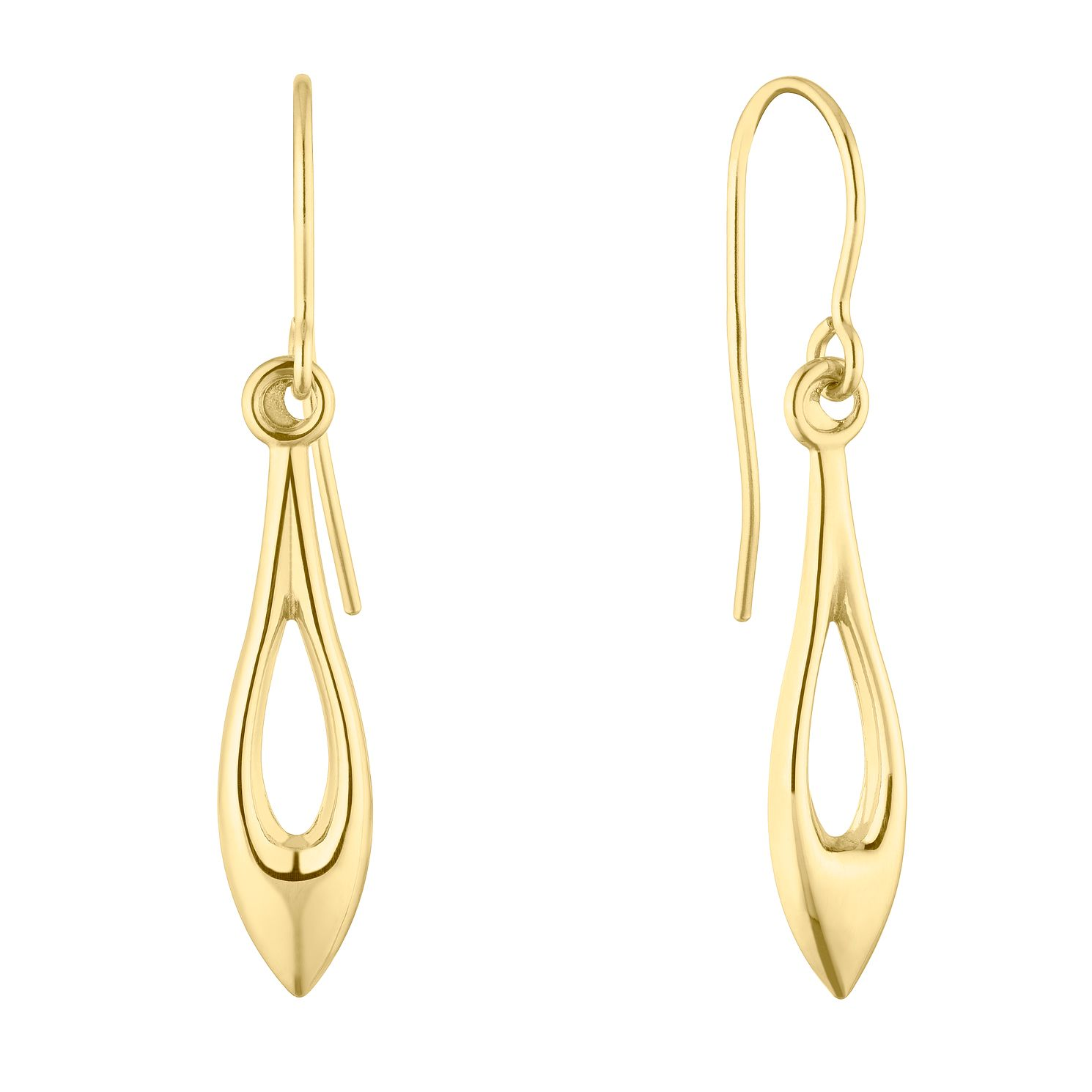 9ct Yellow Gold Open Marquise Drop Earrings - Product number 5088496