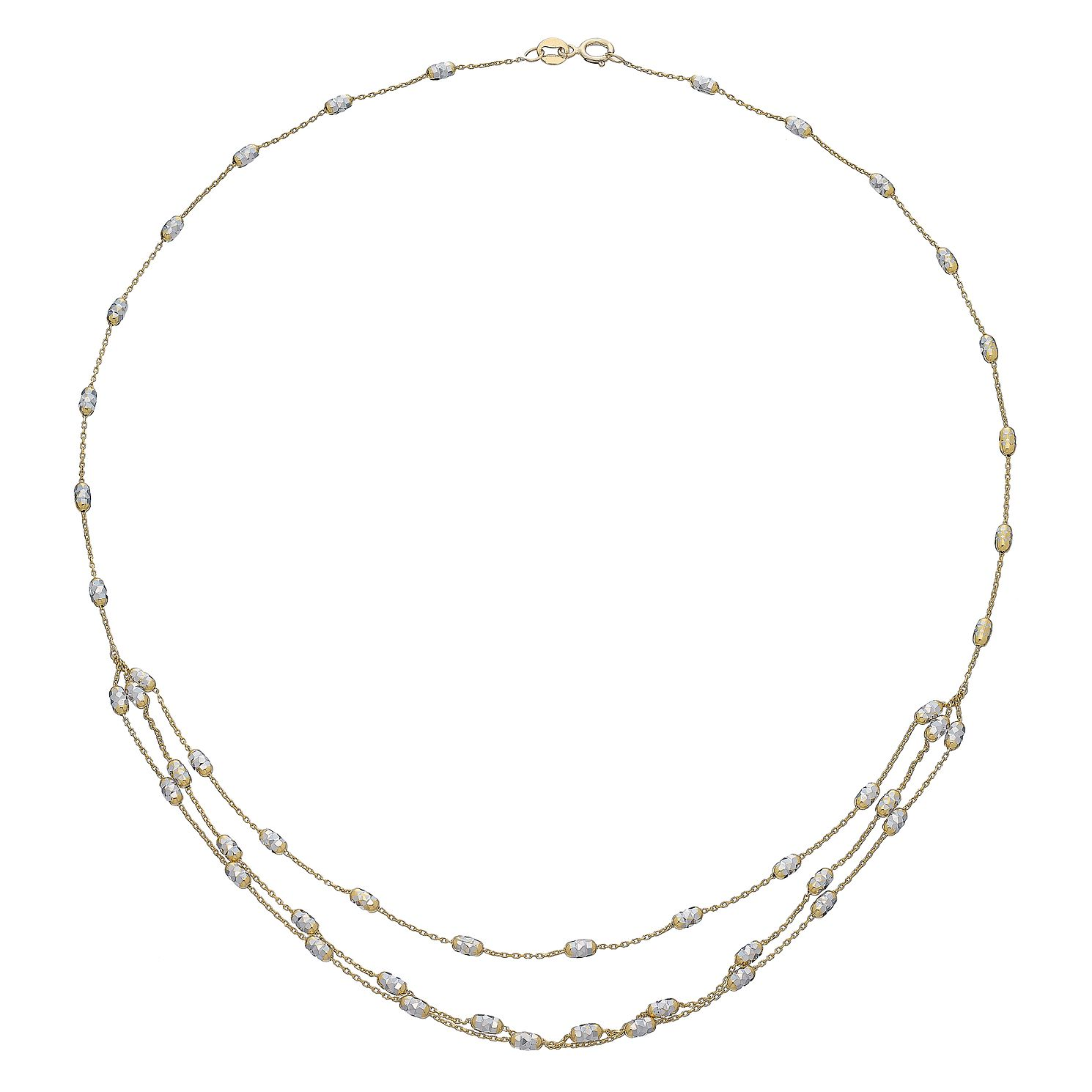 9ct Yellow Gold Triple Layer Chain - Product number 5088720