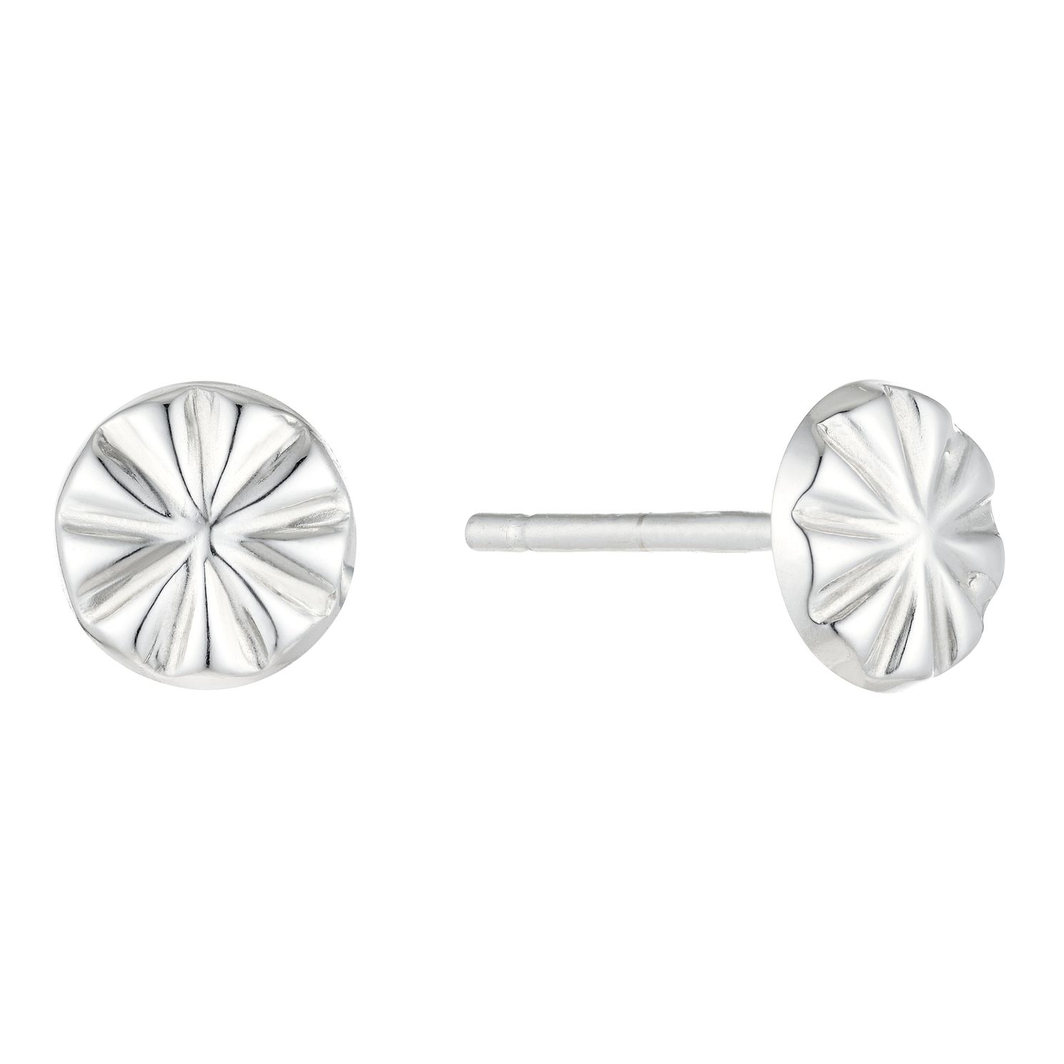 9ct White Gold Starburst Stud Earrings - Product number 5088844