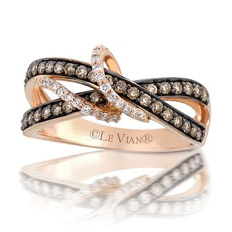 Le Vian 14ct Strawberry Gold 0.45ct Chocolate Diamond Ring - Product number 5088909