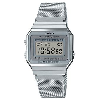 Casio Vintage Stainless Steel Mesh Bracelet Watch - Product number 5089549