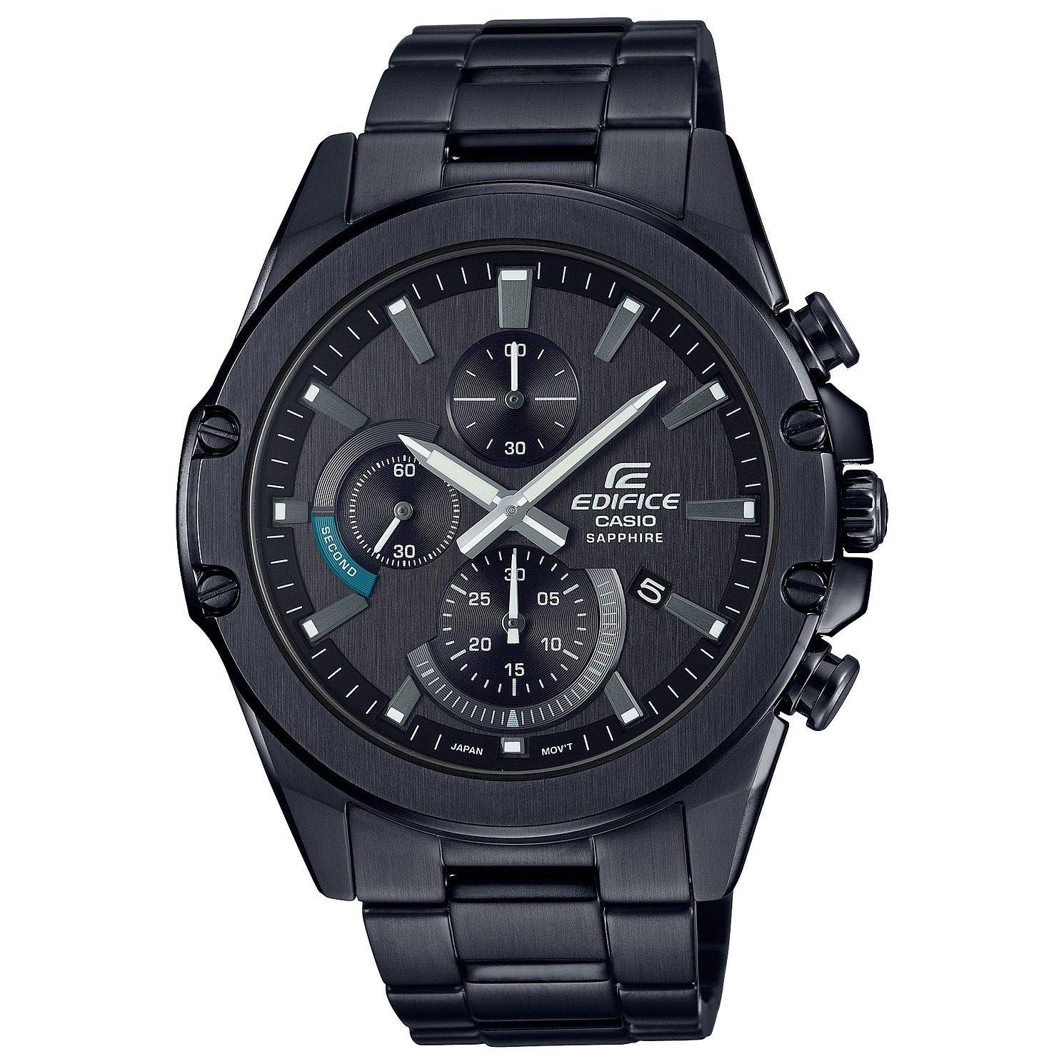 Casio Edifice Men's Gunmetal Stainless Steel Bracelet Watch - Product number 5089573