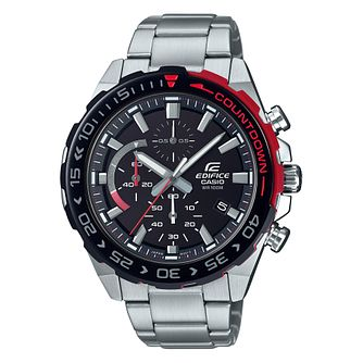 Casio Edifice Countdown Men's Stainless Steel Bracelet Watch - Product number 5089662