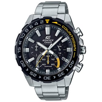 Casio Edifice Countdown Men's Stainless Steel Bracelet Watch - Product number 5089859