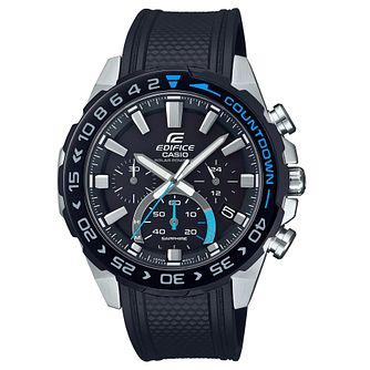 Casio Edifice Countdown Men's Black Resin Strap Watch - Product number 5089875