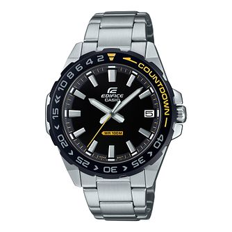 Casio Edifice Countdown Men's Stainless Steel Bracelet Watch - Product number 5089883