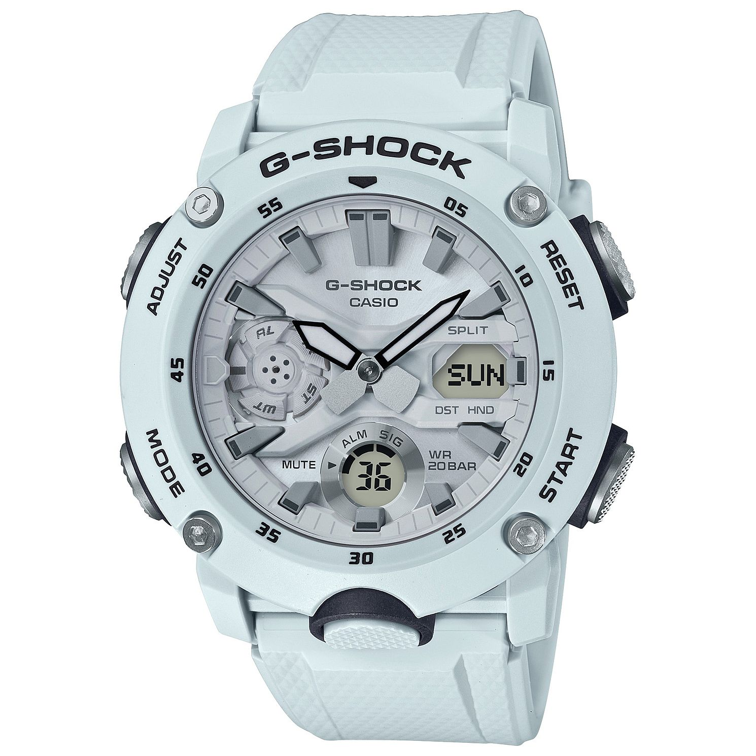 Casio G-Shock Carbon Core Guard White Resin Strap Watch - Product number 5091071