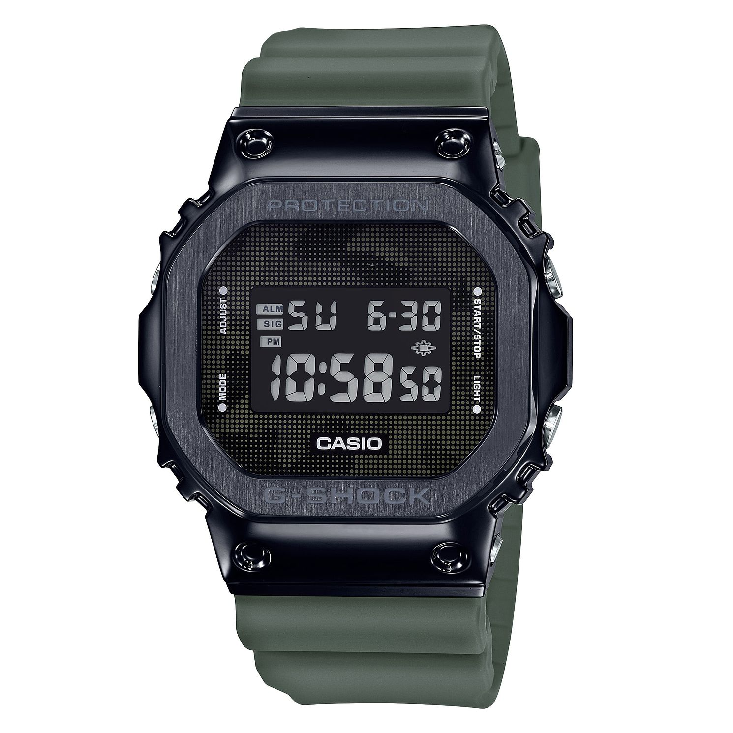 Casio G-Shock Metal Men's Green Resin Strap Watch - Product number 5091160