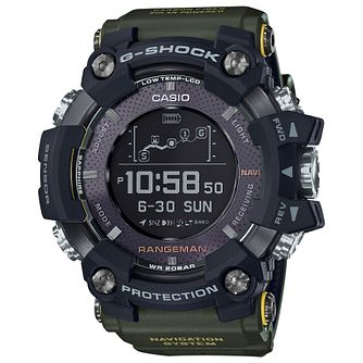 Casio G-Shock Rangeman Men's Green Resin Strap Watch - Product number 5091179
