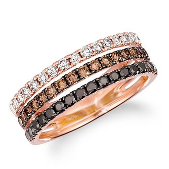 Le Vian 14ct Strawberry Gold Layer Cake 0.80ct Diamond Ring - Product number 5092639