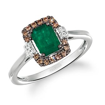 Le Vian 14ct Vanilla Gold Emerald & 0.18ct Diamond Ring - Product number 5092949