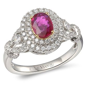 Le Vian Platinum Ruby & 0.58ct Diamond Ring - Product number 5093139