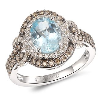 Le Vian 14ct Vanilla Gold Aquamarine & 0.69ct Diamond Ring - Product number 5093333