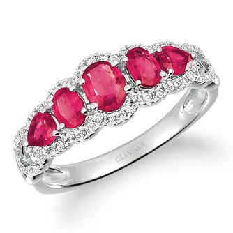Le Vian 14ct Vanilla Gold Ruby & 0.18ct Diamond Ring - Product number 5093503