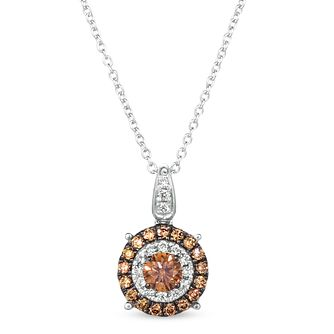 Le Vian 14ct Vanilla Gold 0.45ct Chocolate Diamond Pendant - Product number 5093864