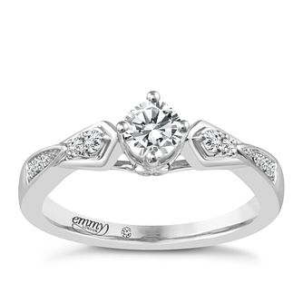 Emmy London Palladium 0.33ct Total Diamond Solitaire Ring - Product number 5098602