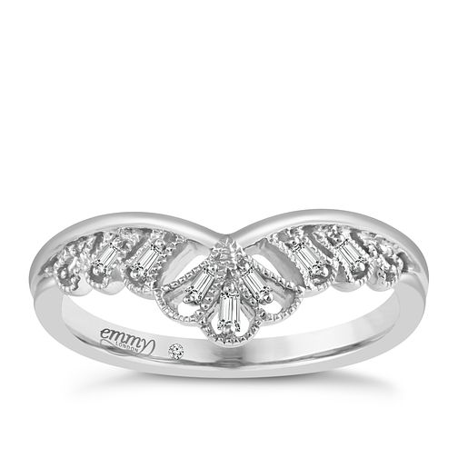 Emmy London Palladium Diamond Ring - Product number 5099587