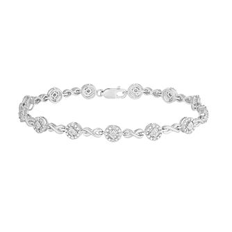 Silver Diamond 1/4ct Infinity Link Bracelet - Product number 5101093