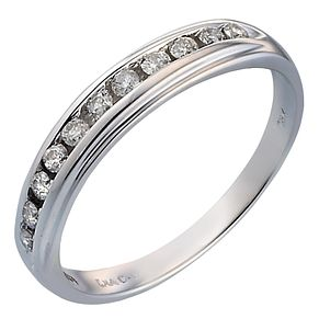 18ct White Gold 1/5 Carat Diamond Eternity Ring - Product number 5101360