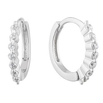 Sterling Silver Cubic Zirconia 10mm Huggie Earrings - Product number 5105013