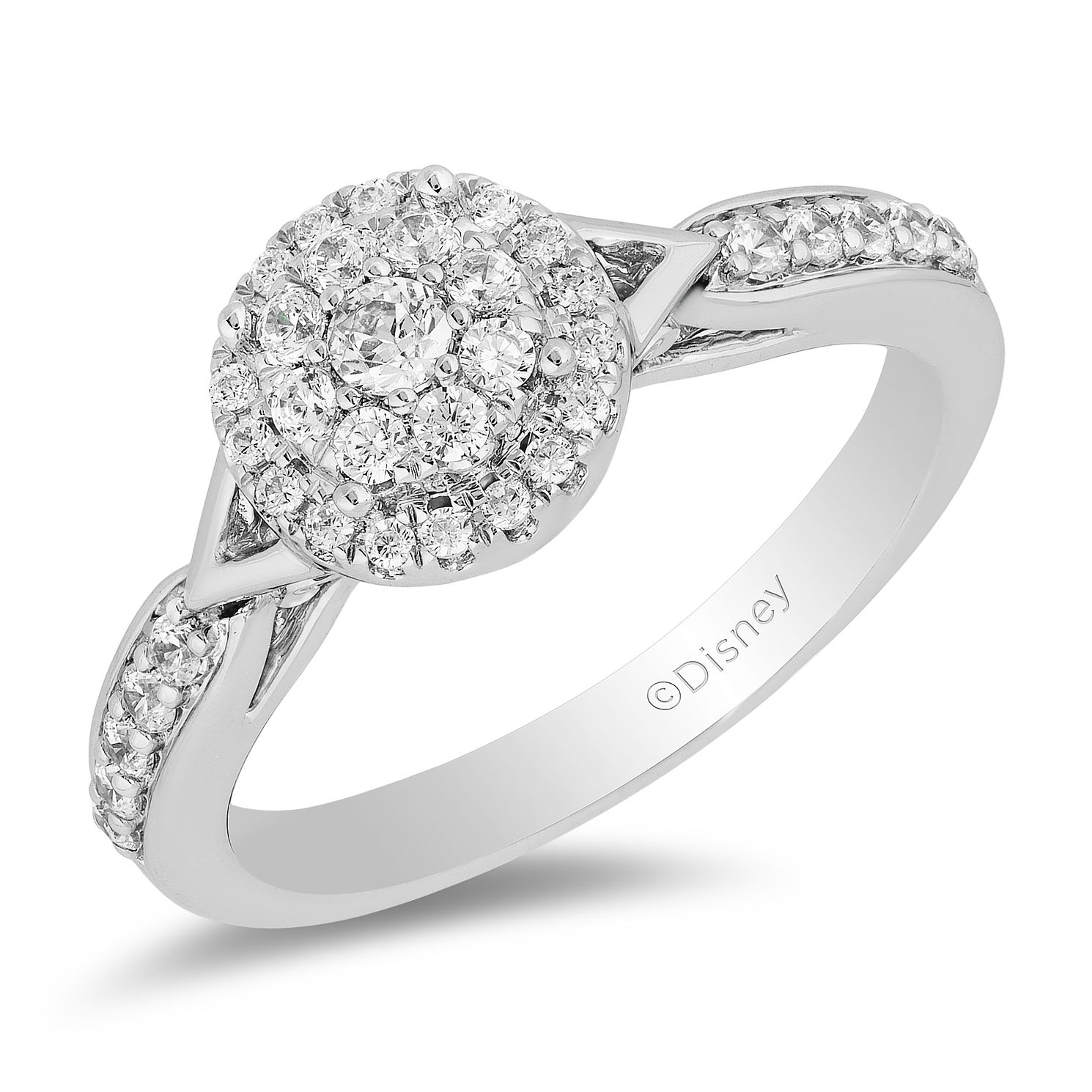 Enchanted Disney Fine Jewelry 0.50ct Diamond Tiana Ring - Product number 5105412