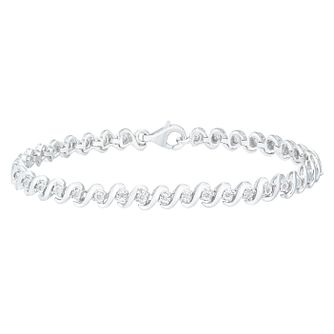Sterling Silver 1/10ct Diamond Bracelet - Product number 5109558
