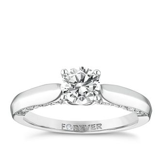 18ct White Gold 1 Carat Forever Diamond Ring - Product number 5110084