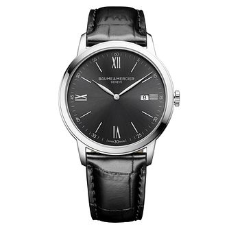 Baume & Mercier My Classima Men's Black Leather Strap Watch - Product number 5111730