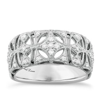 6255fef1ee86c Neil Lane Designs Silver 0.16ct Diamond Vintage Band