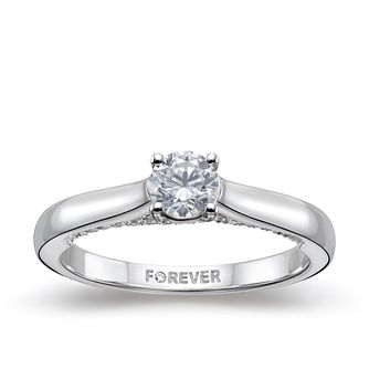 18ct White Gold ½ ct Forever Diamond Ring - Product number 5114802